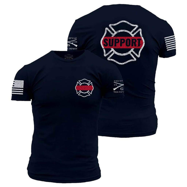 Grunt Style Support Firefighters Men's T-Shirt