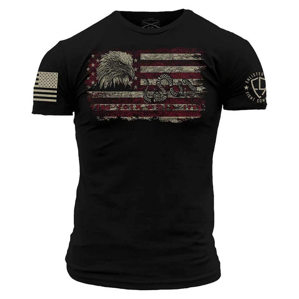 Grunt Style Enlisted 9 Join Or Die Men's T-Shirt