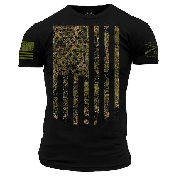 Grunt Style Outdoors Camo Flag Men's T-Shirt