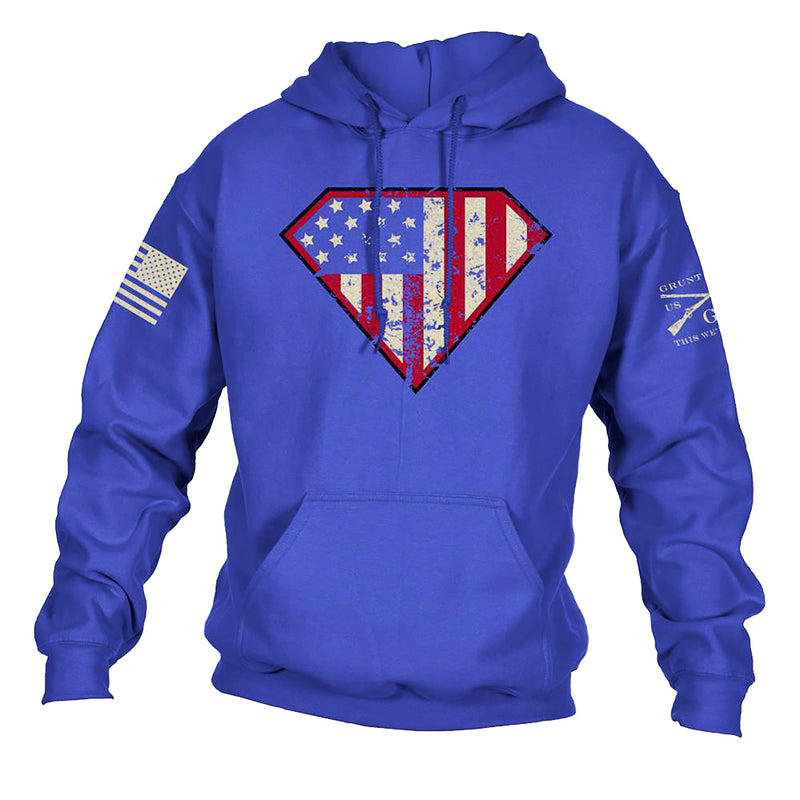 Grunt Style Super Patriot Men's Hoodie