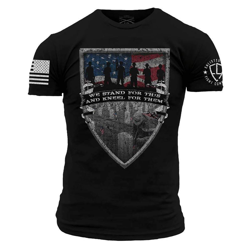 Grunt Style Enlisted 9 We Stand Men's T-Shirt