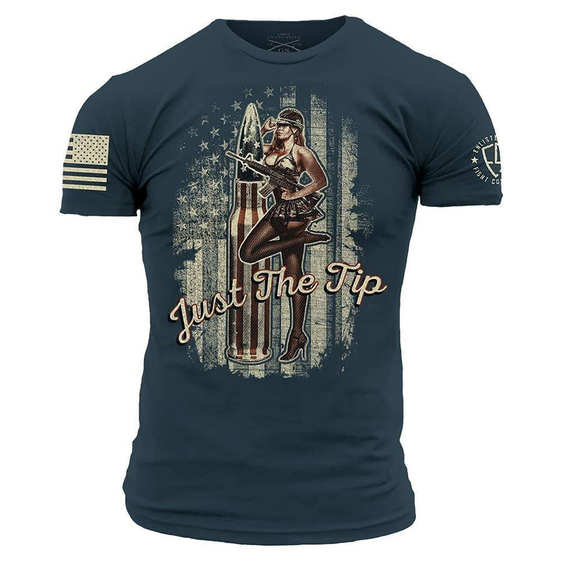 Grunt Style Enlisted 9 Just The Tip Men's T-Shirt