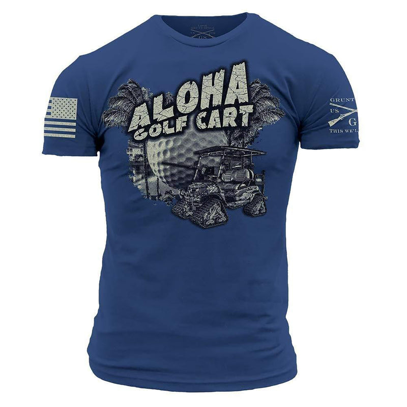 Grunt Style Golf Aloha Golf Cart Men's T-Shirt
