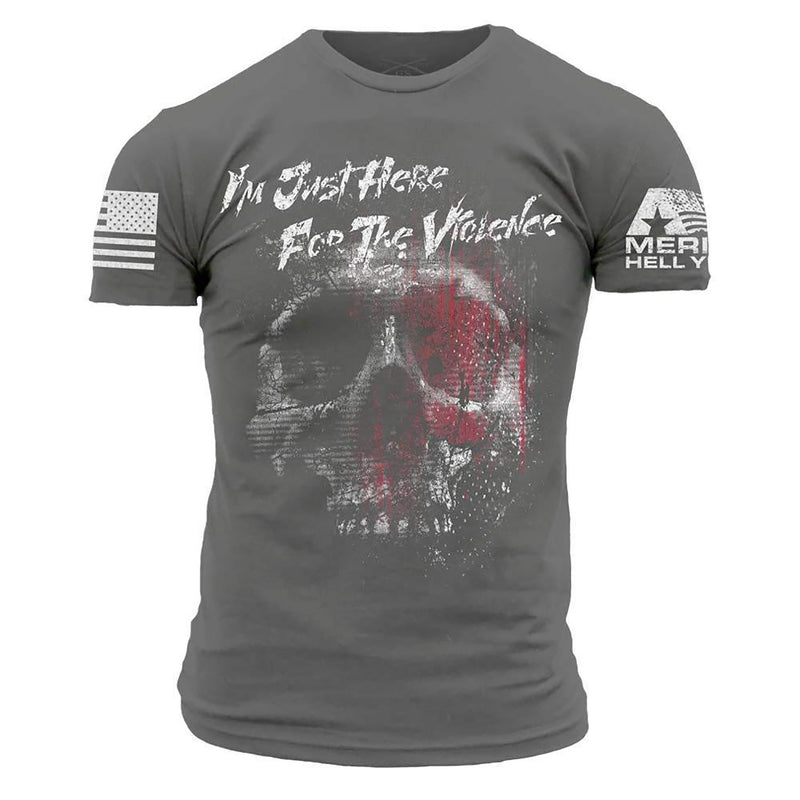 Grunt Style America Hell Yeah Here For The Violence Men's T-Shirt