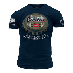 Grunt Style Enlisted 9 Bottle Cap Men's T-Shirt