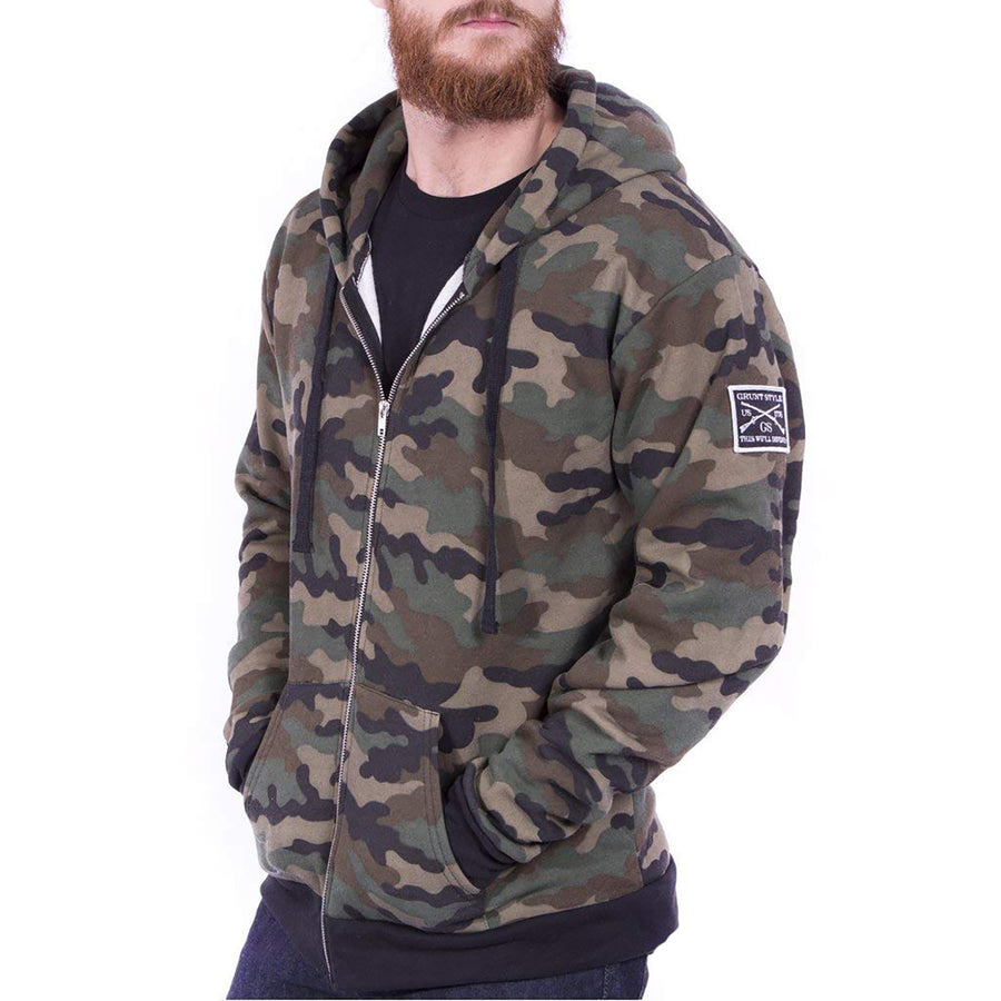 Grunt Style Fleece Full Zip Men's Hoodie