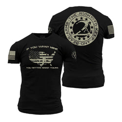 Grunt Style Enlisted 9 2nd Amendment Men's T-Shirt