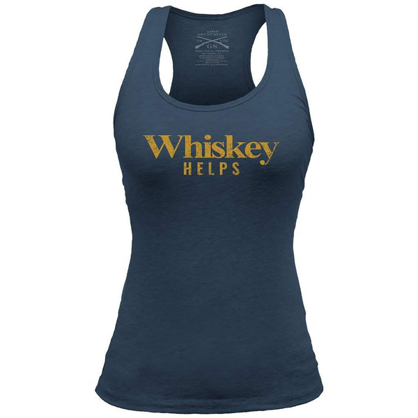 Grunt Style Outdoors Whiskey Helps Women's Racerback