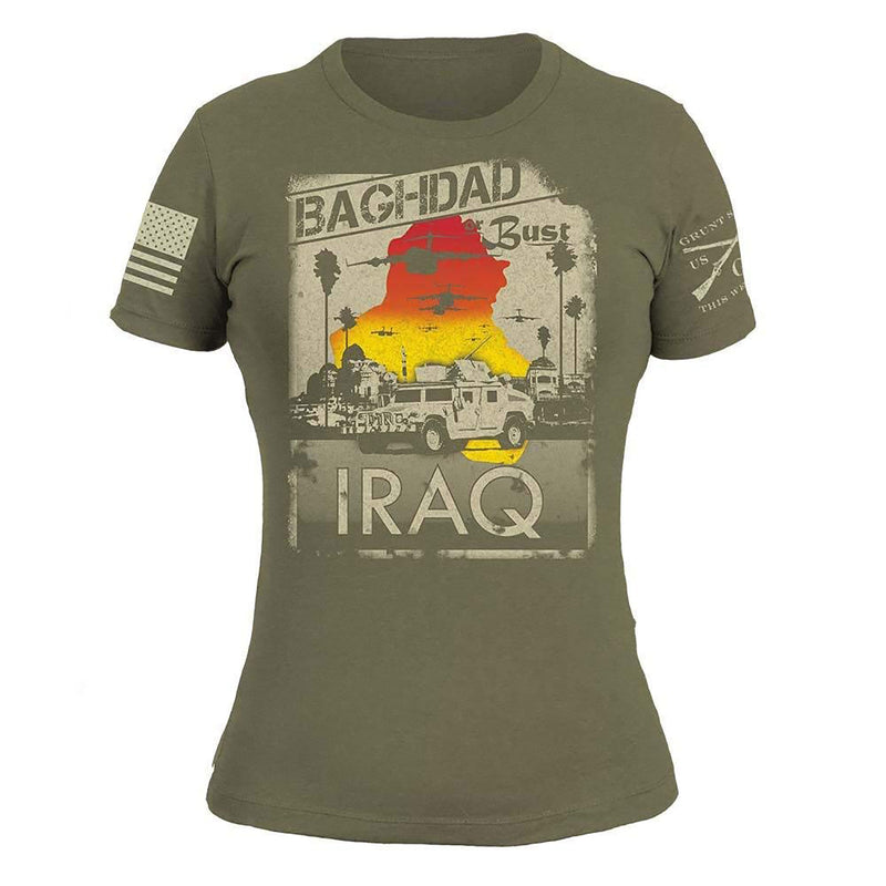 Grunt Style Post Card Line Baghdad Or Bust Women's T-Shirt
