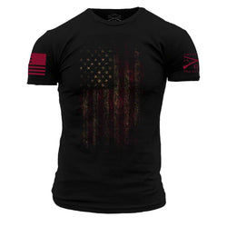 Grunt Style Worn Flag Men's T-Shirt