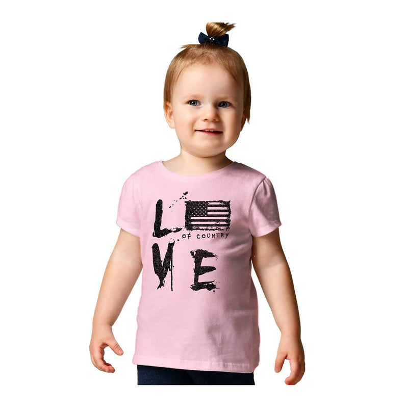 Grunt Style Love of Country Toddler's T-Shirt
