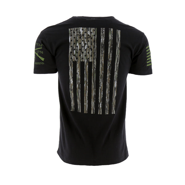 Grunt Style Realtree Original Camo Flag Men's T-Shirt