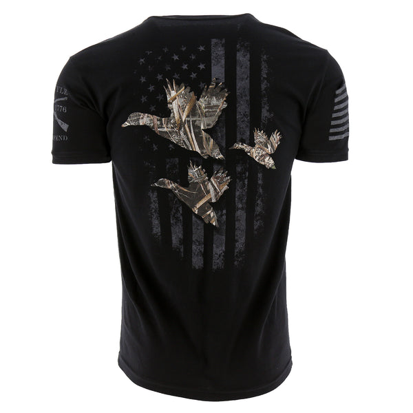 Grunt Style Realtree Max-5 Duck Flag Men's T-Shirt