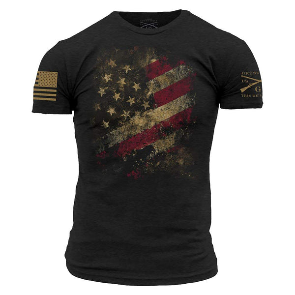 Grunt Style Worn Flag 2.0 Men's T-Shirts