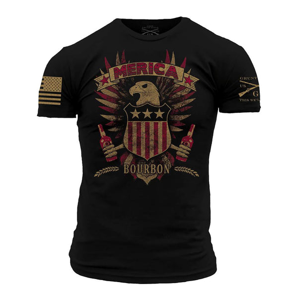 Grunt Style Merica Bourbon Eagle Men's T-Shirt