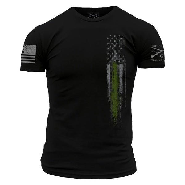 Grunt Style Green Line Flag Men's T-Shirt