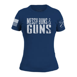 Grunt Style Messy Buns And Guns Women's T-Shirt