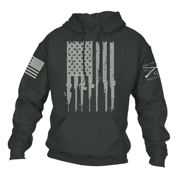 Grunt Style Rifle Flag 2.0 Men's Hoodie