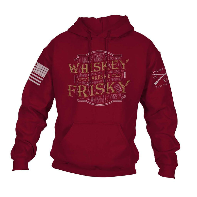 Grunt Style Whiskey Makes Me Frisky Women's Hoodie