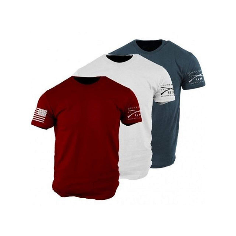 Grunt Style Patriot 3-Pack Men's T-Shirt