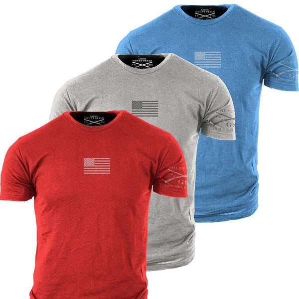 Grunt Style Freedom 3-Pack Men's T-Shirt