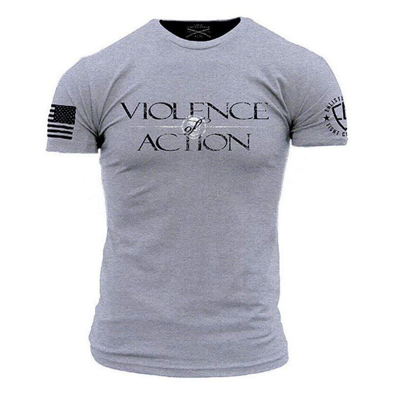 Grunt Style Enlisted 9 Violence Of Action Men's T-Shirt