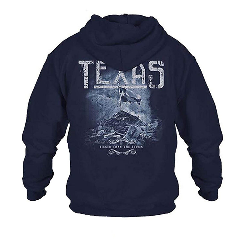 Grunt Style Support Texas Bigger Than The Storm Men's Hoodie