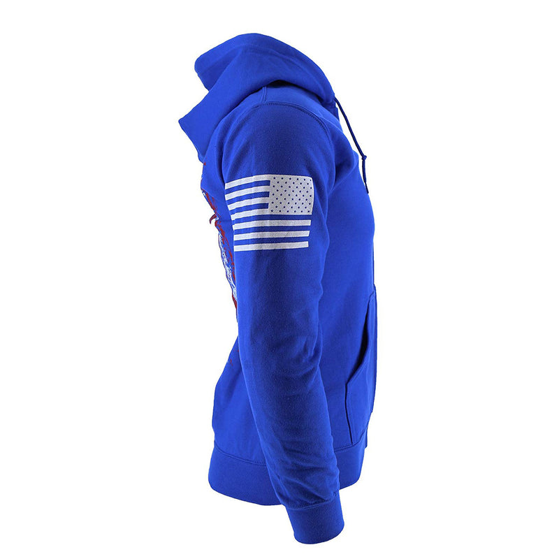HYDRA Tactical Skull Flag Men's Zip Hoodie
