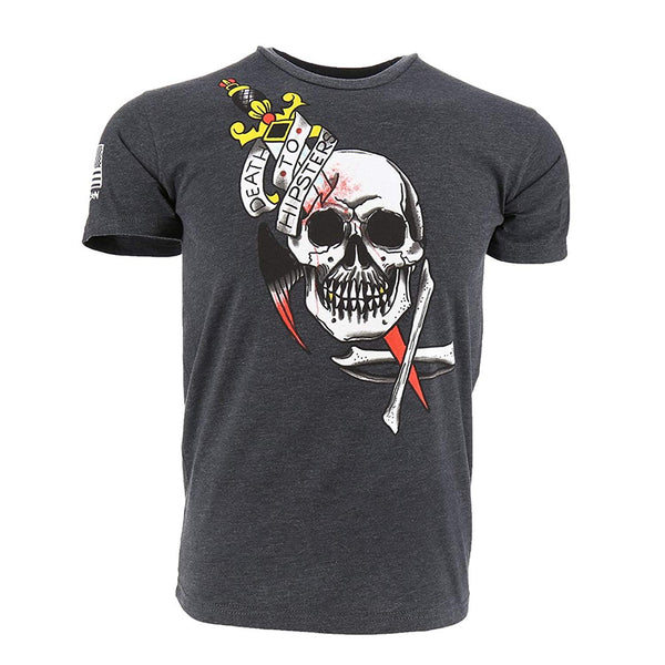 RogueAmerican Death to Hipsters Men's T-Shirt