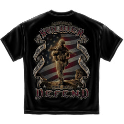 Erazor Bits American Soldier This We'll Defend Men's T-Shirt