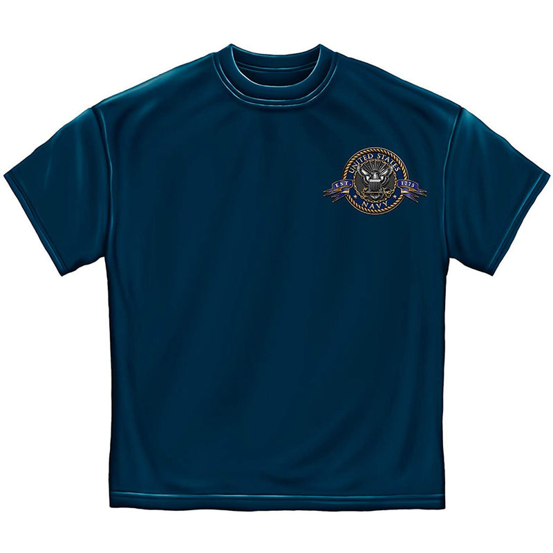 Erazor Bits Navy The Sea Is Ours Men's T-Shirt