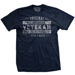 Black Ink Veteran 7 Days A Week Men's T-Shirt