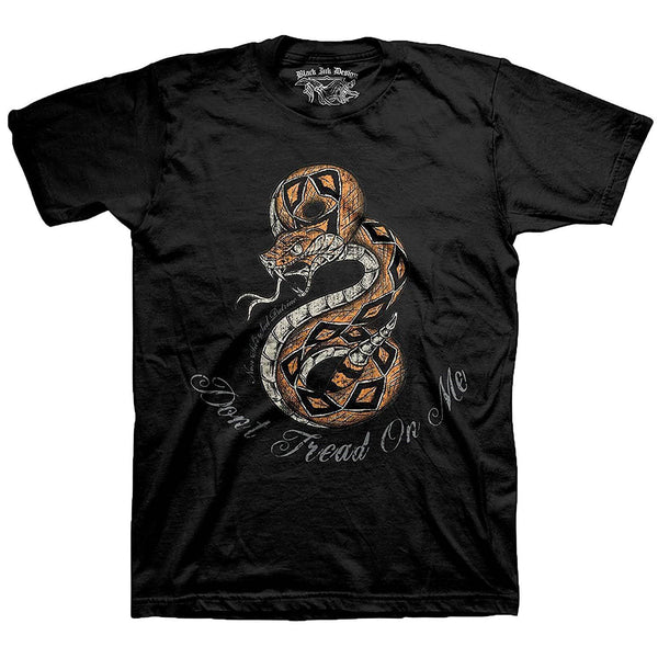 Black Ink Don't Tread On Me Men's T-Shirt