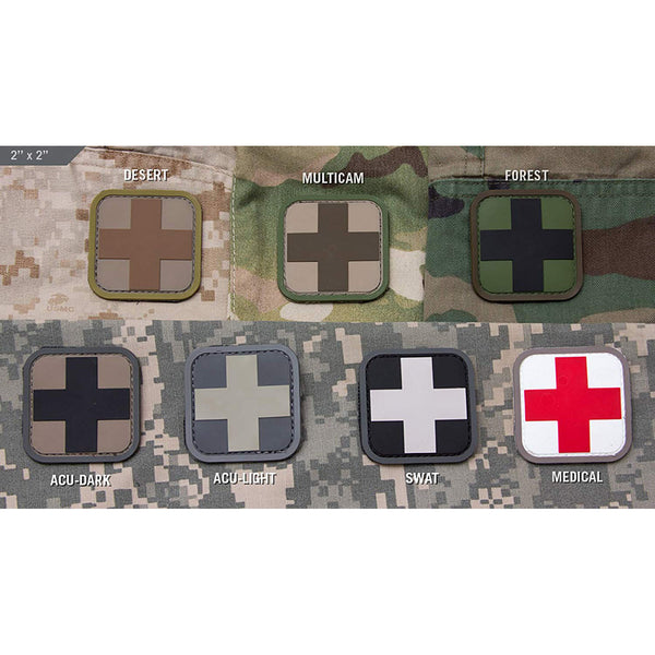 "Mil-Spec 2"" Medic Square PVC Patch"