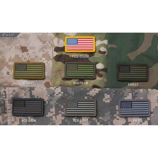 Mil-Spec US Flag Mini PVC Patch