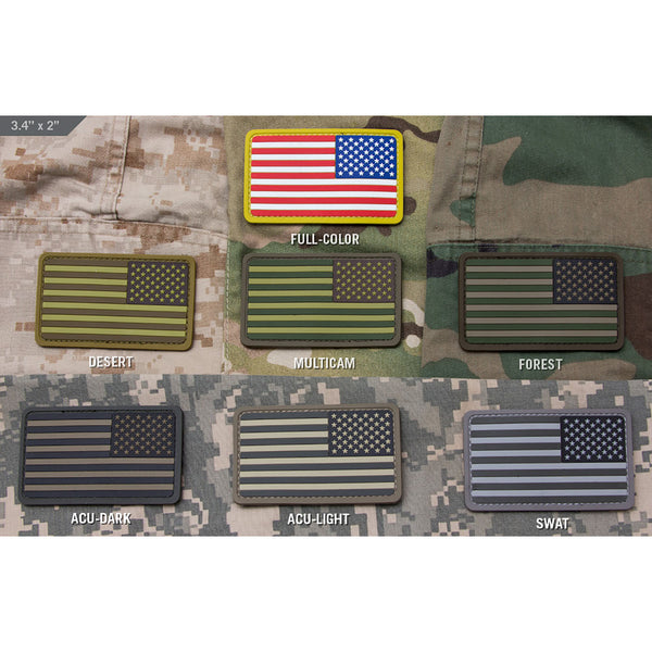 Mil-Spec US Flag Mini Reversed PVC Patch
