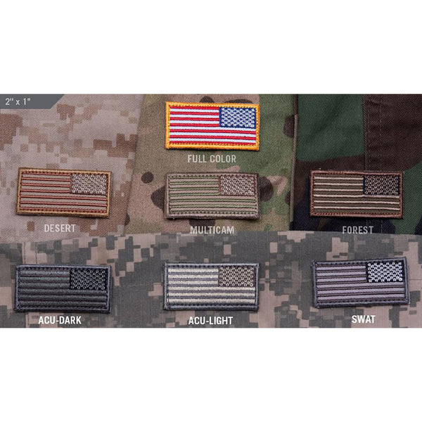 Mil-Spec US Flag Mini Reversed Patch