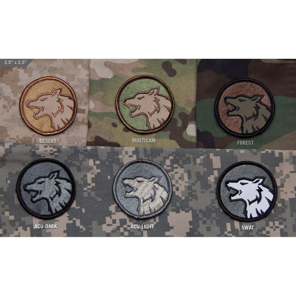 Mil-Spec Wolf Head Patch