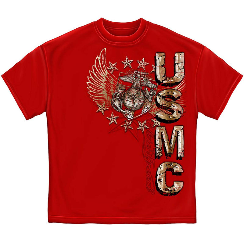 Erazor Bits Elite Breed USMC Pride Duty Honor Stars Men's T-Shirt