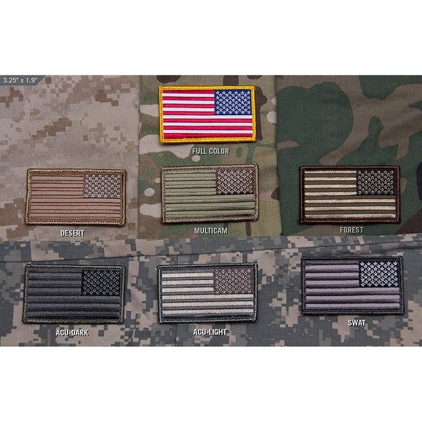 Mil-Spec US Flag Reversed Patch