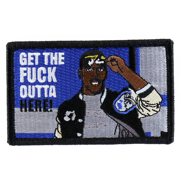 "Dump Box Axel Foley ""Get The Fuck Outta Here"" Morale Patch"