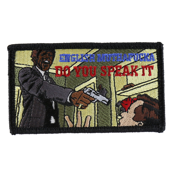 "Dump Box Pulp Fiction ""English Muthafucka"" Morale Patch"