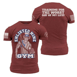 Grunt Style Enlisted 9 Gym 2.0 Men's T-Shirt
