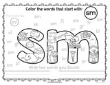 Find & Color! Word Families, Blends, Digraphs & Trigraphs