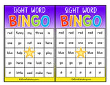 Editable Sight Word BINGO Game Pack