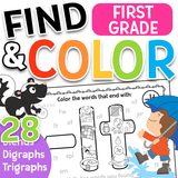 Find & Color: Blends, Digraphs, & Trigraphs