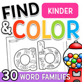 Find & Color Word Families