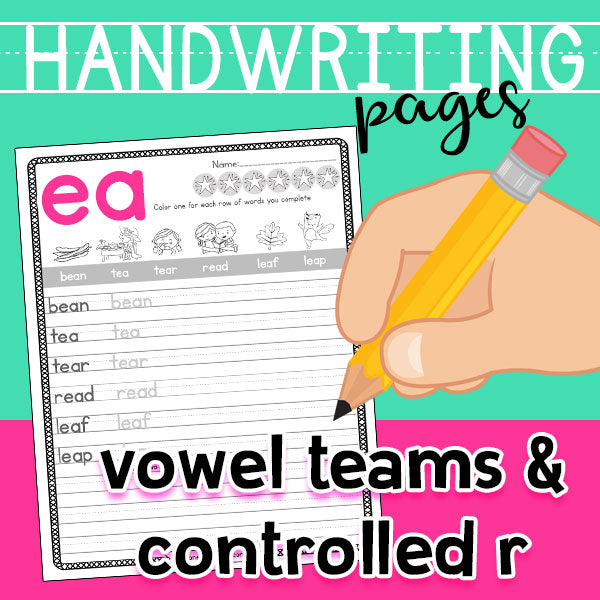 Handwriting with Vowels & Controlled R