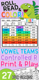 Roll, Read, & Color with Vowels & Controlled R