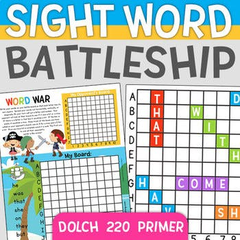 Sight Word Battleship
